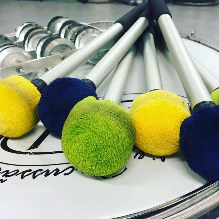Bunte Drumsticks Sambapercussion