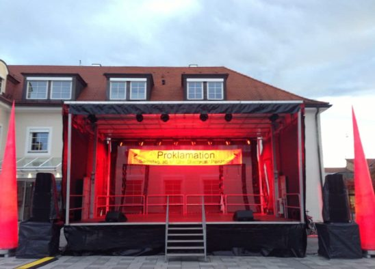 Fahrbare Bühne – der Allrounder für Ihre Veranstaltung